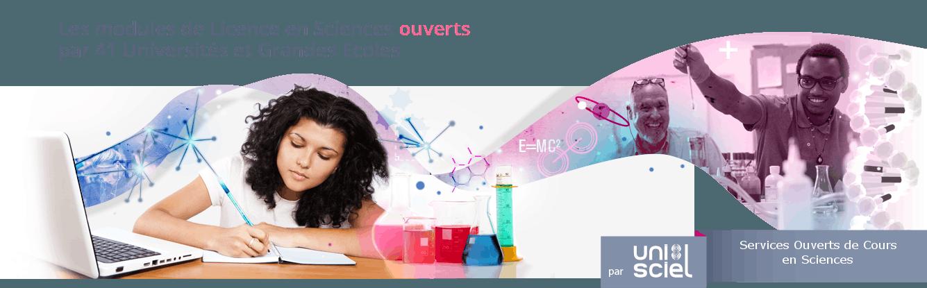 Les modules de Licence en Sciences ouverts par 41 Universités et Grandes Ecoles